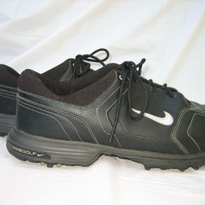 NIKE Golf Power Channel Black Spike Shoes, Size 11